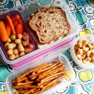 09.05.17 || My husband and I joked that we should create a separate IG account showing what he eats for lunch. 😉 I went ahead and packed him a lunch today too. Turkey sandwich on marathon bread from Wegmans; carrot sticks; chickpeas; cashews; and pretzel sticks.